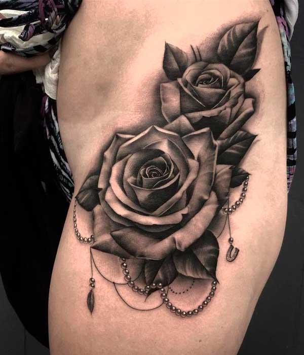 Tatuajes de rosas negras góticas