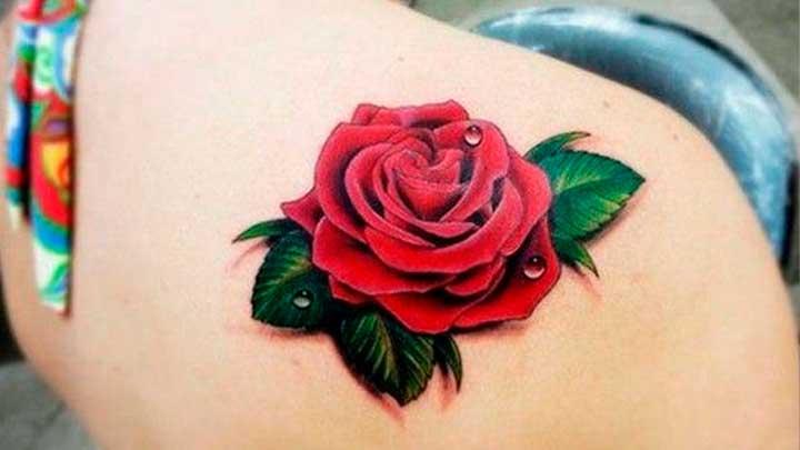 Tatuajes de flor rosa