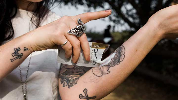 cuidado de un tatuaje