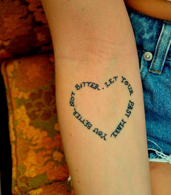 Tatuajes de corazón con frases