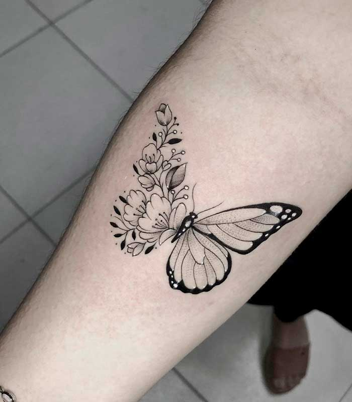 tattoo de mariposas
