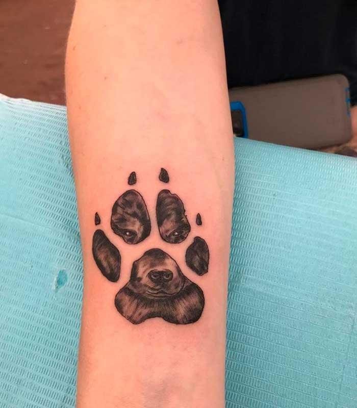 tatuajes de huellas de perros
