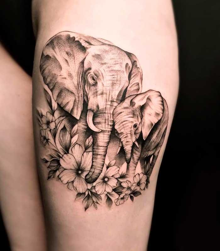 significado de tatuajes de elefantes