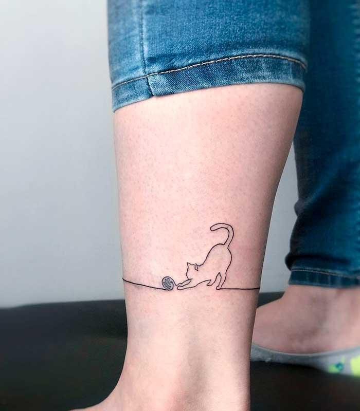 tatuajes de gatos sencillos