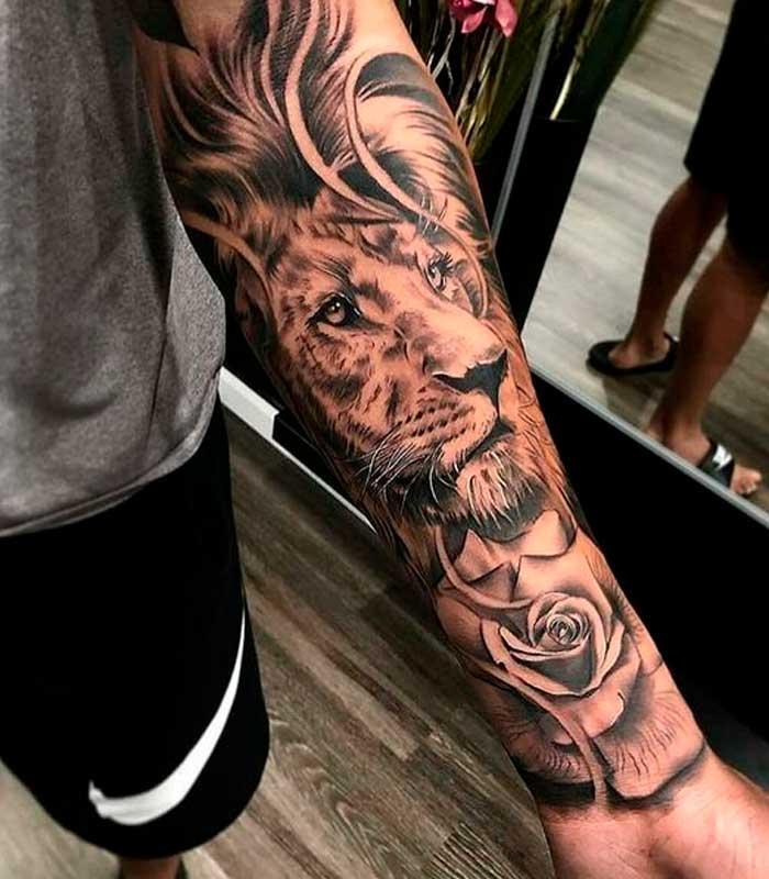 tattoos de leones para caballeros