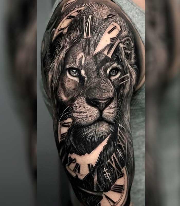 tattoos de leones para chicos