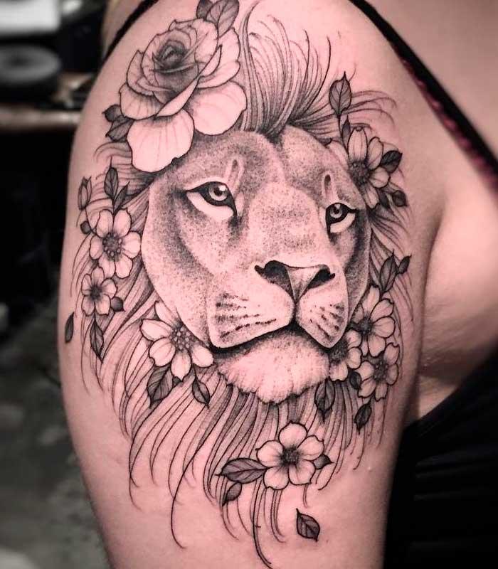 tattoos de leones para damas