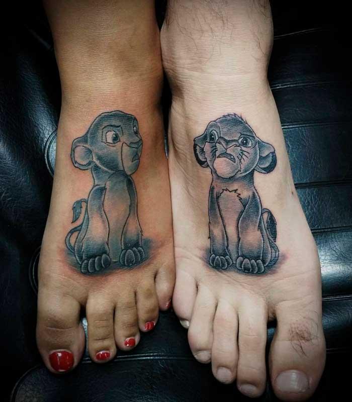 tattoos de leones para enamorados