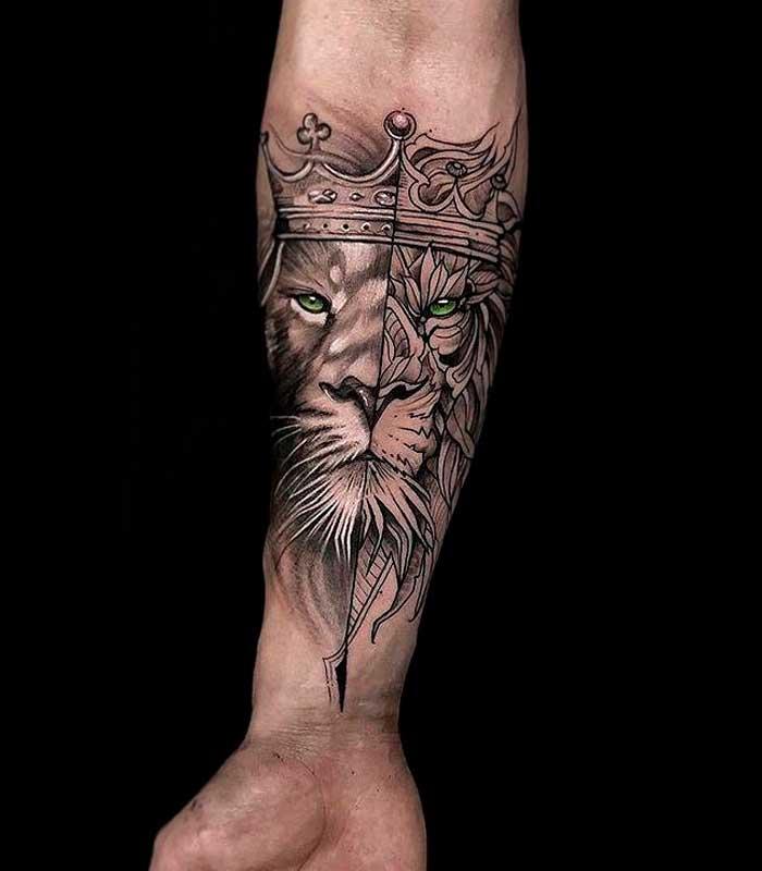 tattoos de leones para hombres