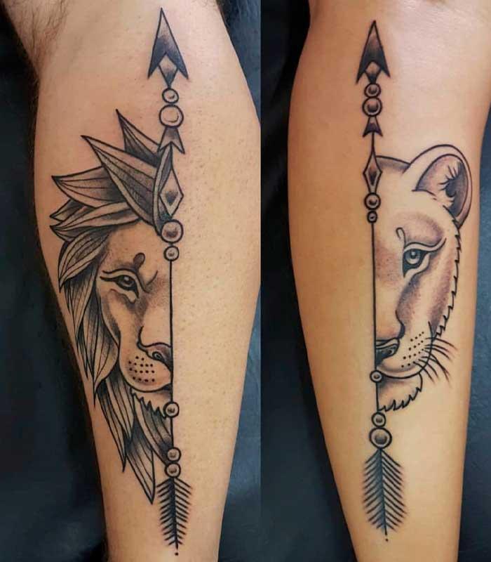tattoos de leones para novios