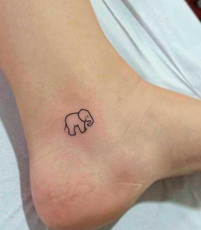 tatuajes pequenos de elefantes