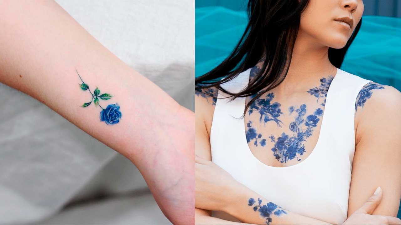 Tatuajes azules: 🔵 Significados, diseños de tattoos y más