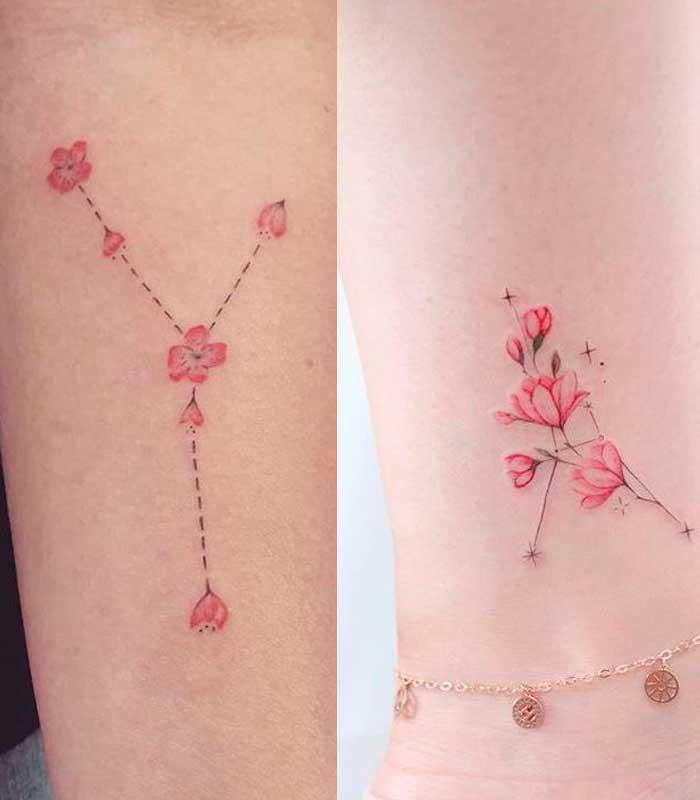 tatuajes cáncer con flores