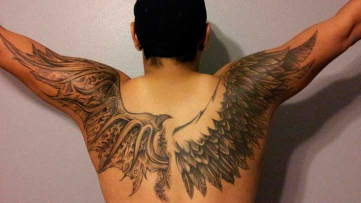 tatuajes de alas de dragon
