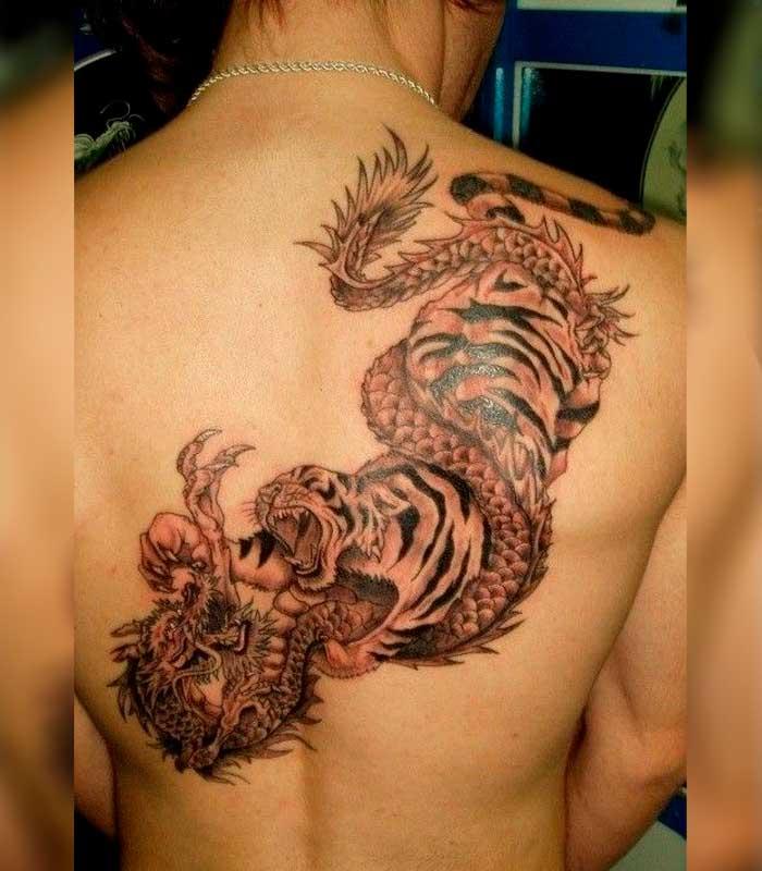 tatuajes de dragones y tigres