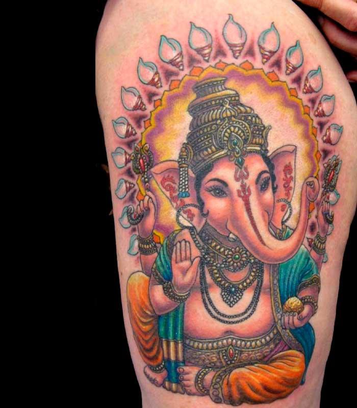 tatuajes de elefantes budistas o indus