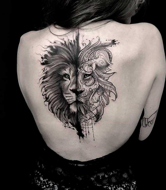 tatuajes de leones para chicas