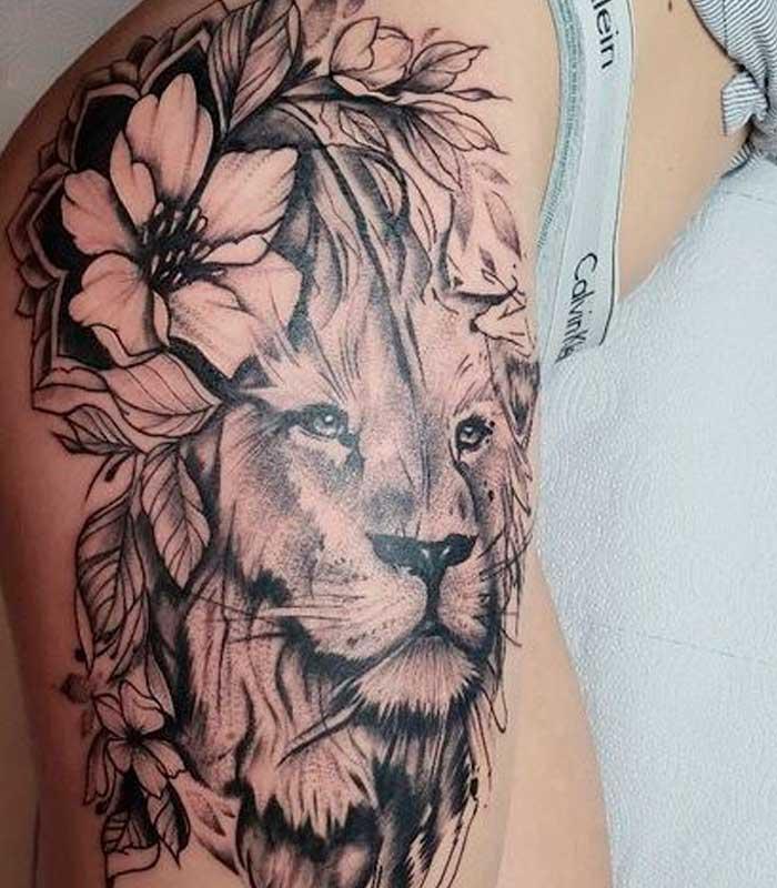 tatuajes de leones para damas