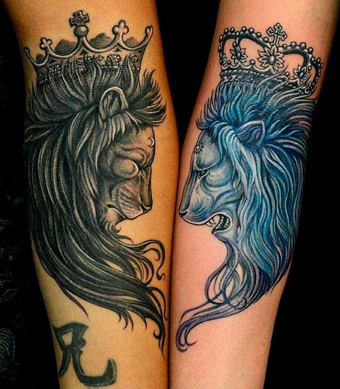 tatuajes de leones para enamorados