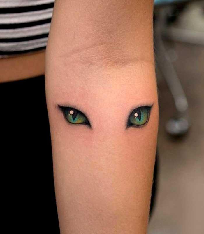 tatuajes de ojos de gatos