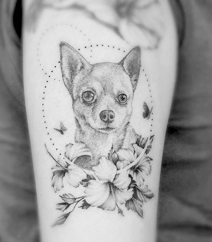 tatuajes de perros chihuahua
