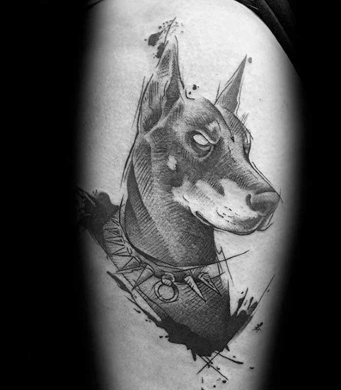 tatuajes de perros doberman