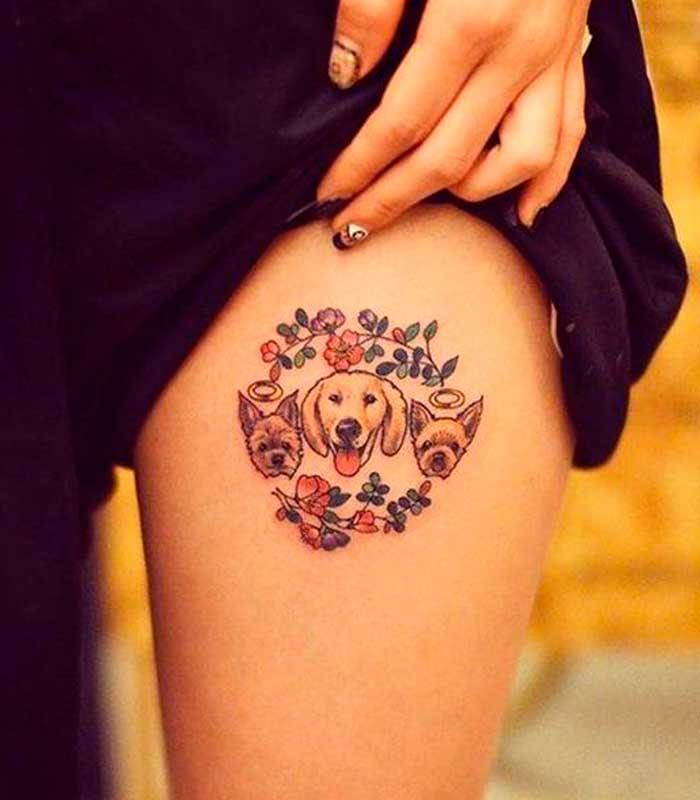 tatuajes de perros para mujeres