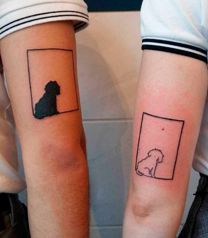 tatuajes de perros para parejas