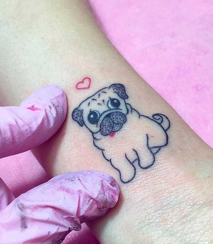 tatuajes de perros pug