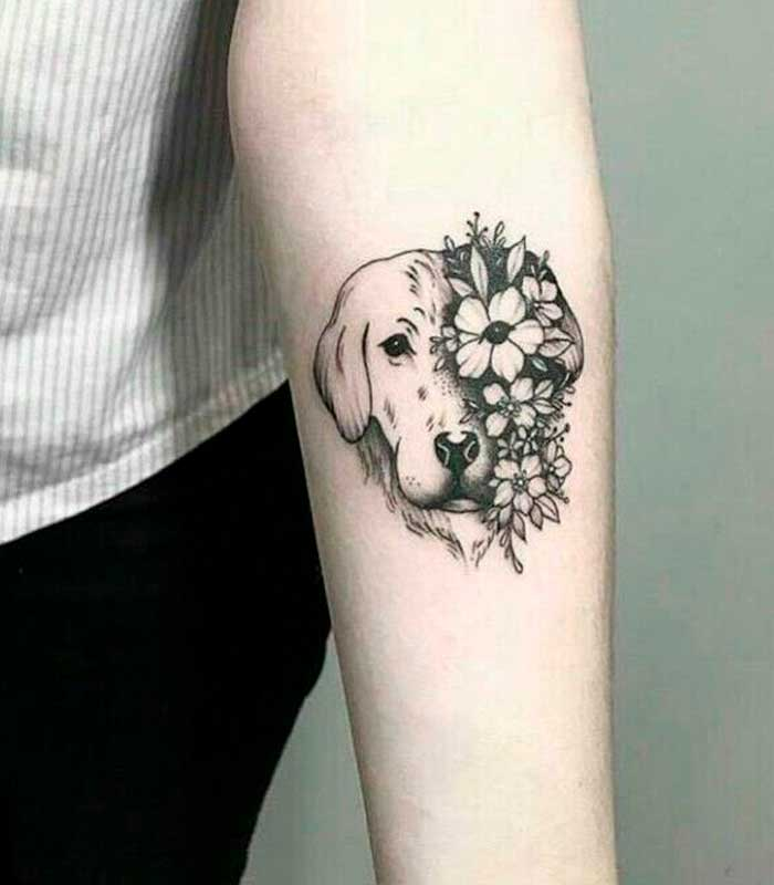 tatuajes de rostros de perros