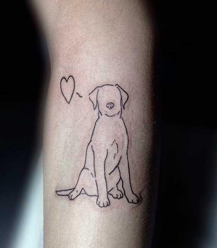 tatuajes de siluetas de perros