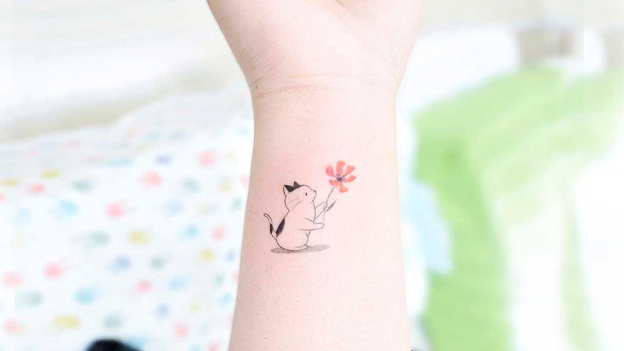 tatuajes pequeños de gatos