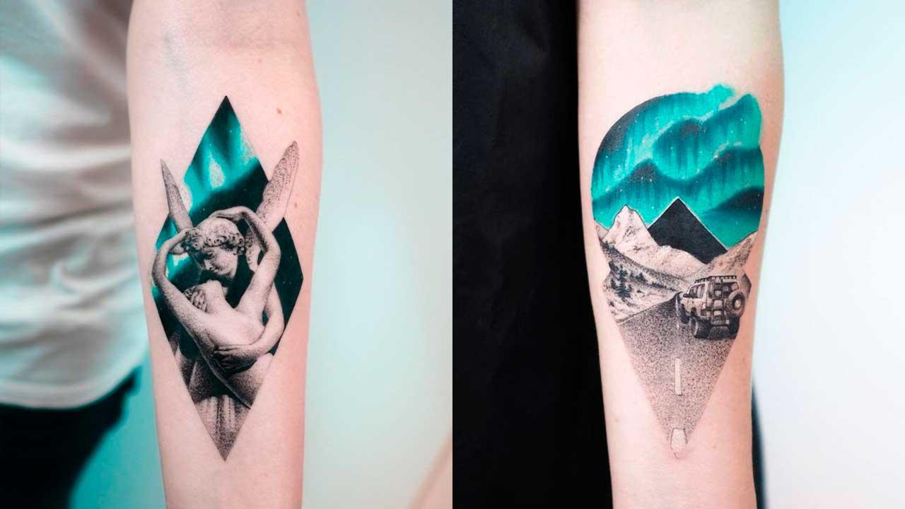 tatuajes turquesas