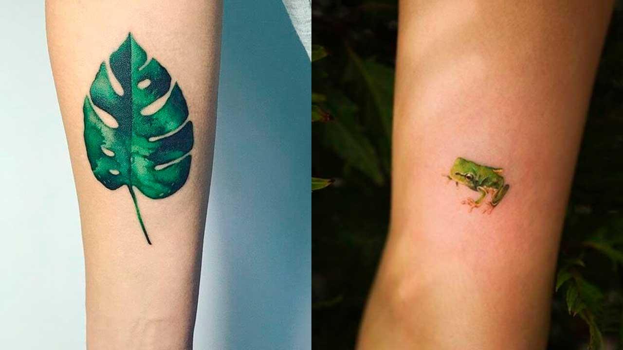 Tatuajes verdes: 🟢 Significados, diseños de tattoos y más