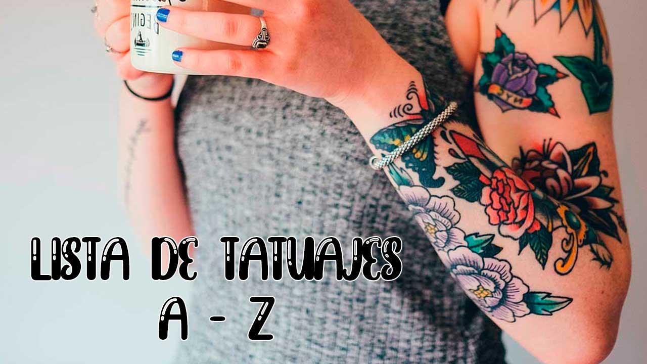 Lista de tatuajes con significados 🗒 desde la A a la Z ✅