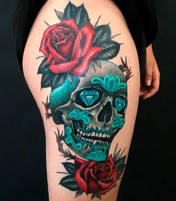 tatuajes de calaveras mexicanas
