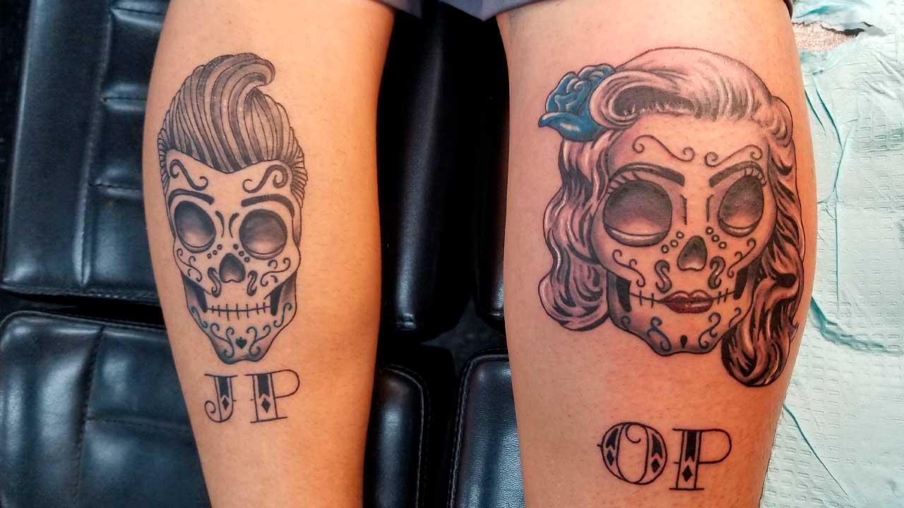 tatuajes de calaveras para parejas
