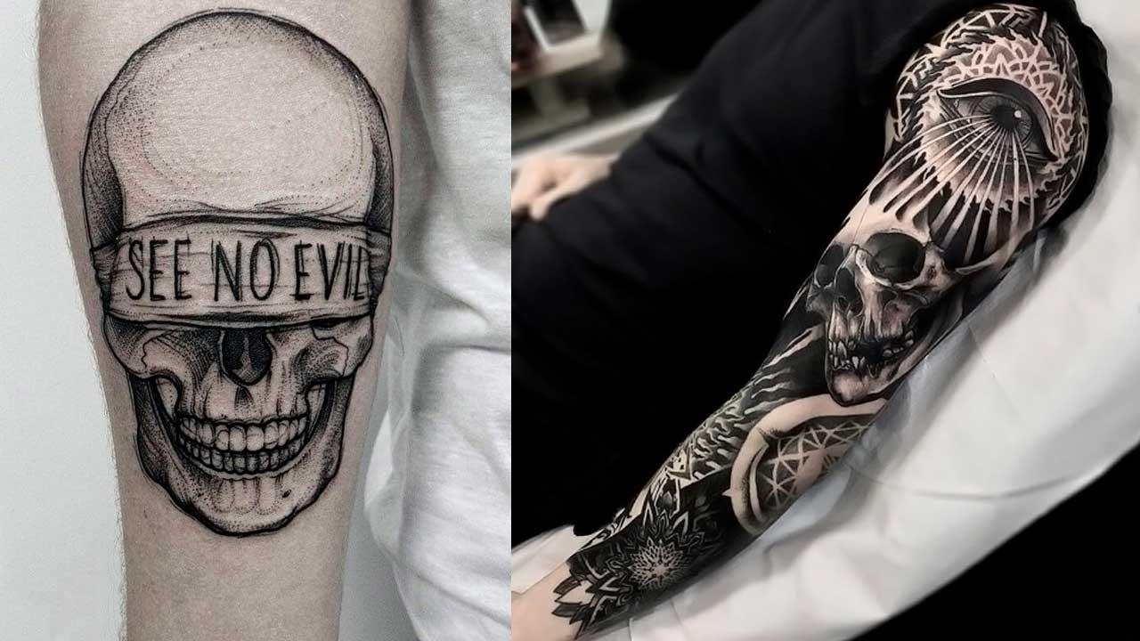 Tatuajes de calaveras con significado y diseños ☠