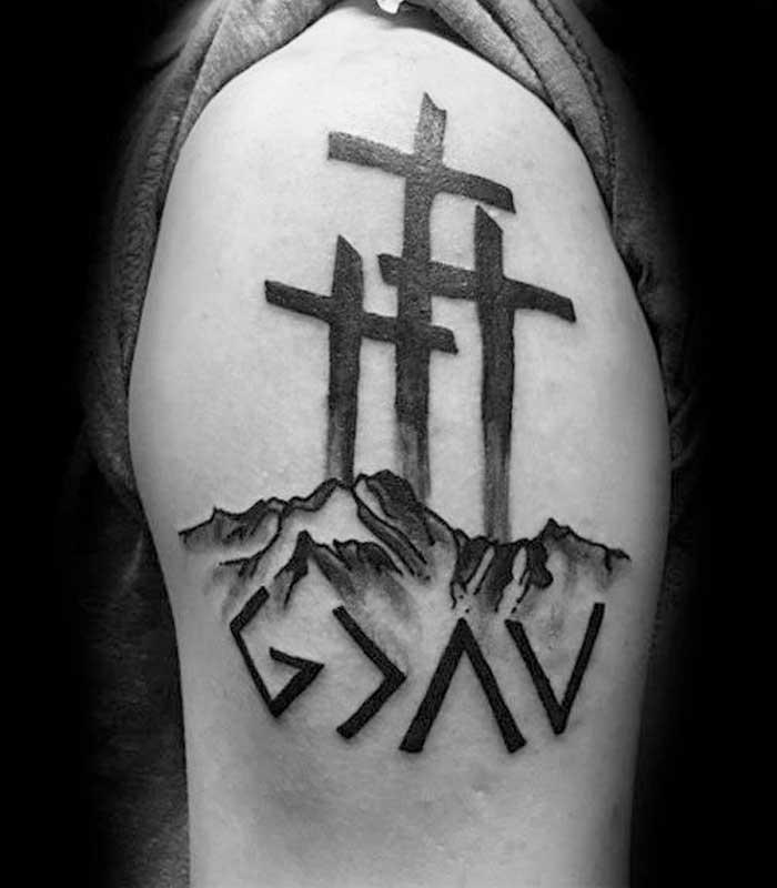 tatuajes de cruces cristianas