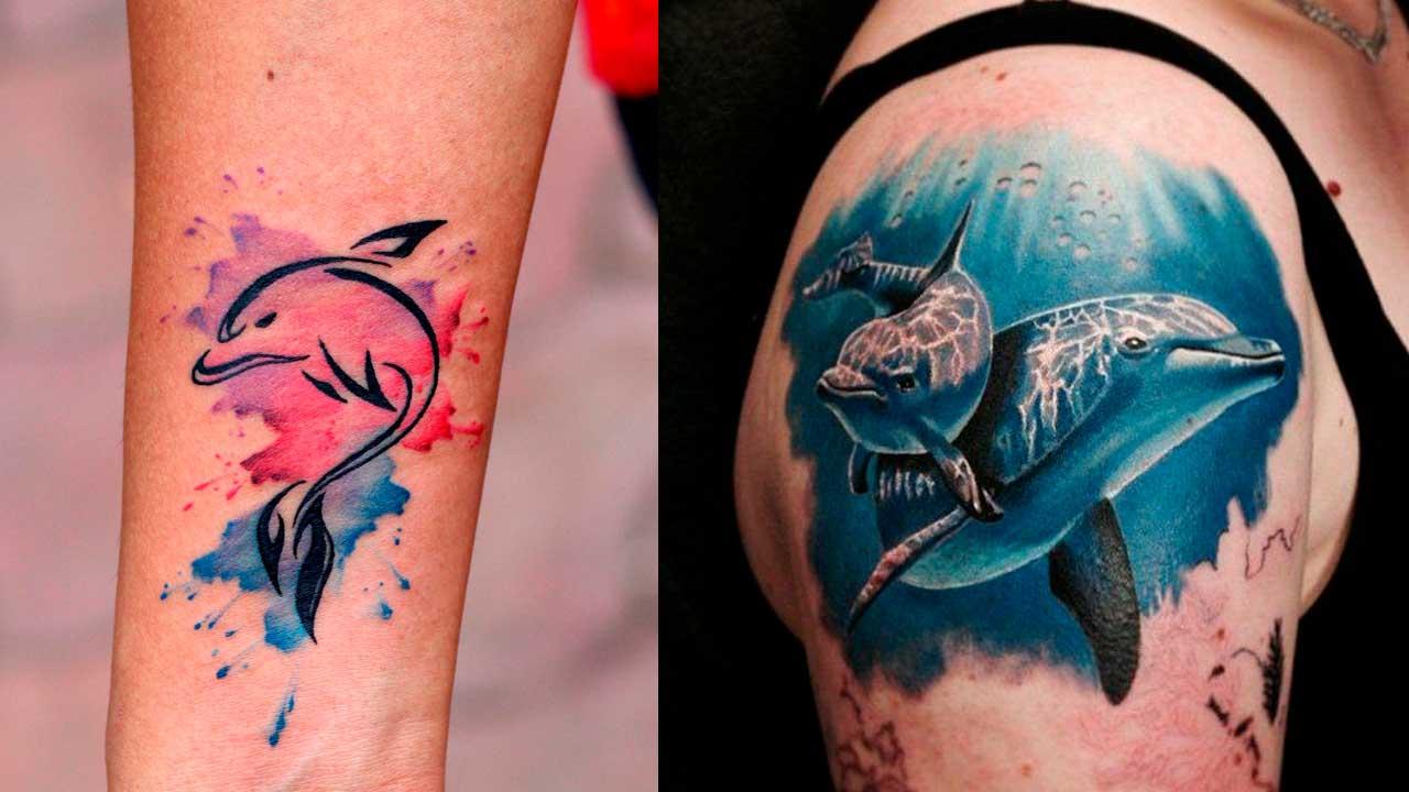 【Tatuajes de delfines】🐬 Significado y diseños originales ✅