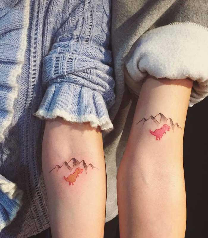 tatuajes de dinosaurios para parejas