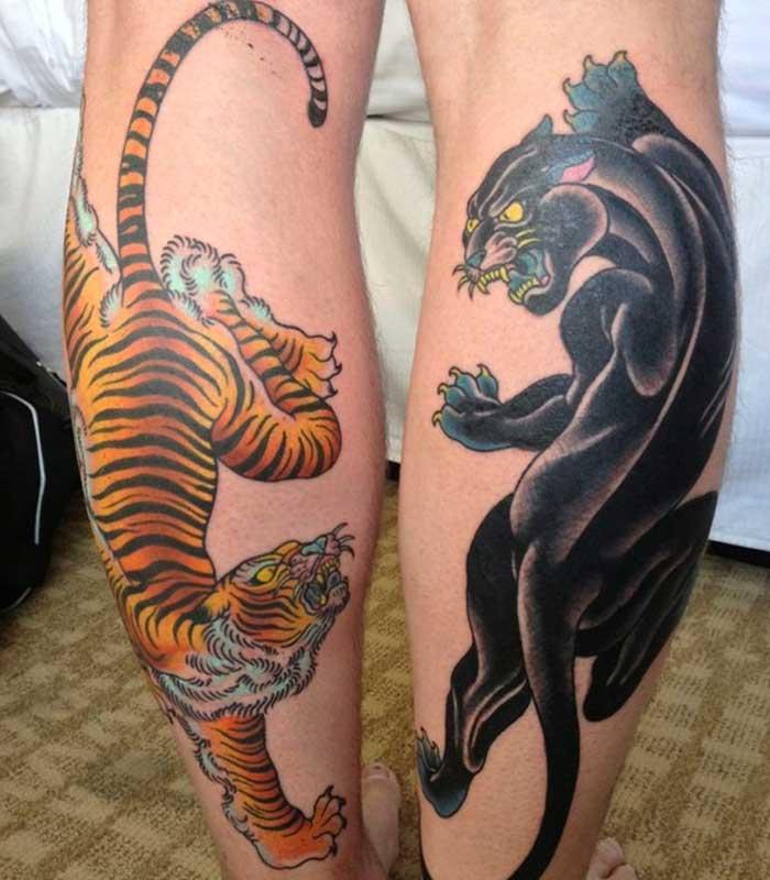 tatuajes de panteras y tigres