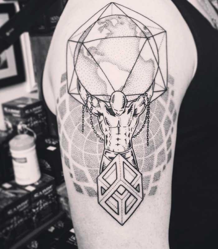 tatuajes geometricos puntilismo