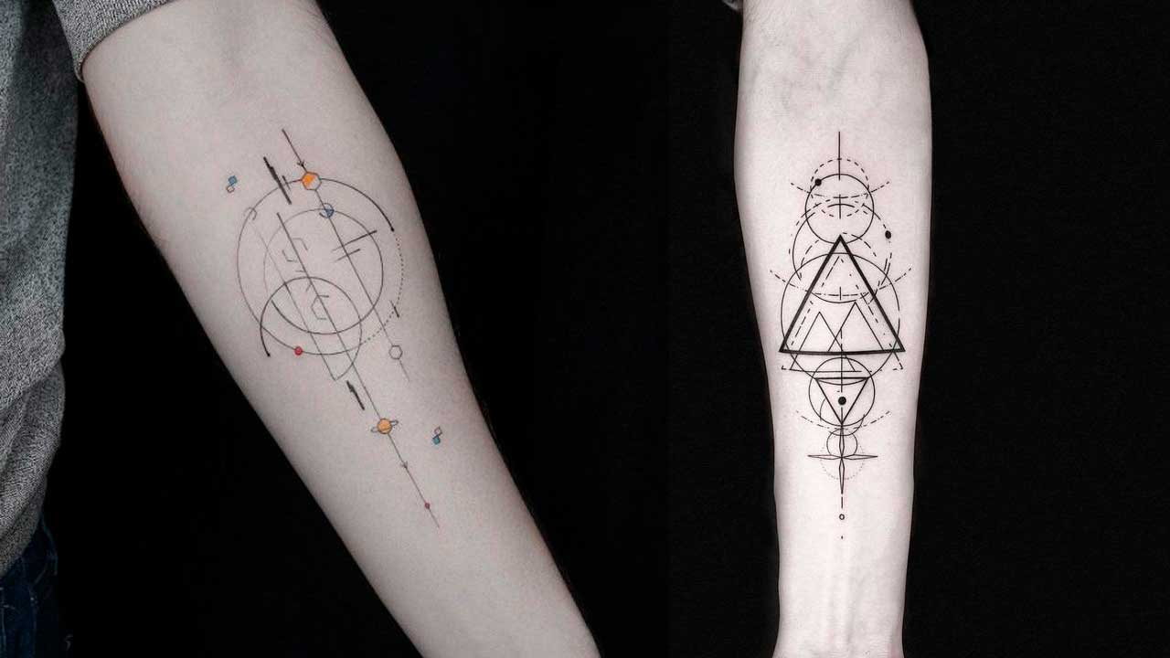 Tatuajes geométricos: 🔸 Significados, diseños de tattoos y más