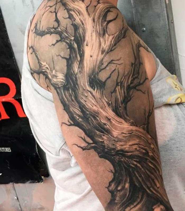 tatuajes de arboles muertos