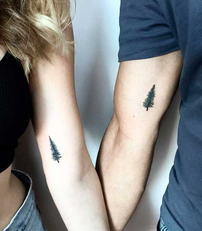tatuajes de arboles para parejas