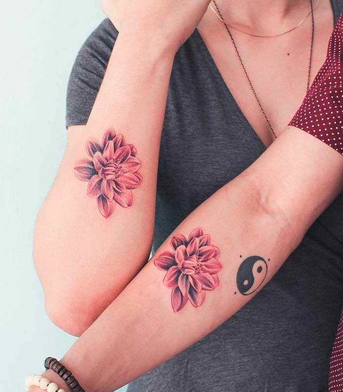 tatuajes de flores para parejas