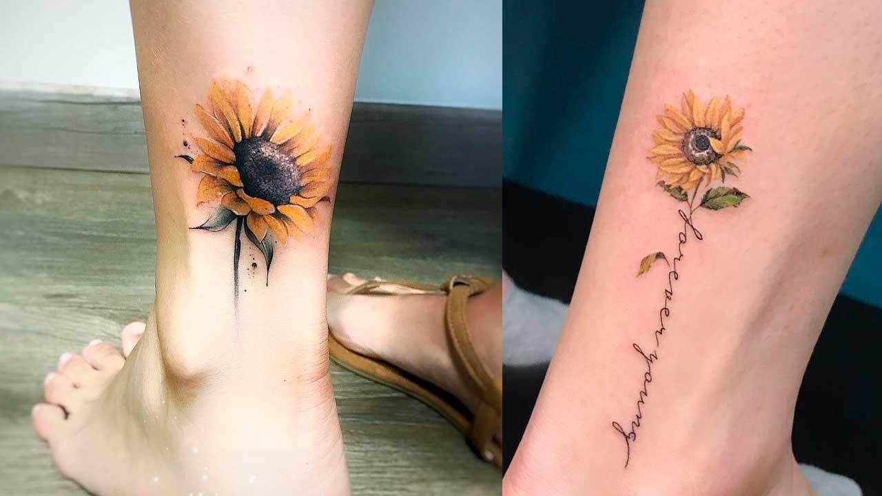 Tatuajes de girasoles 🌻 Significado y mejores diseños ✅