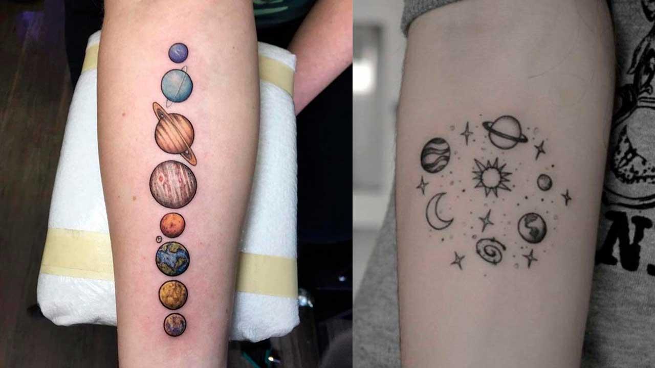 Tatuajes de planetas 🪐 Significado y mejores diseños ✅