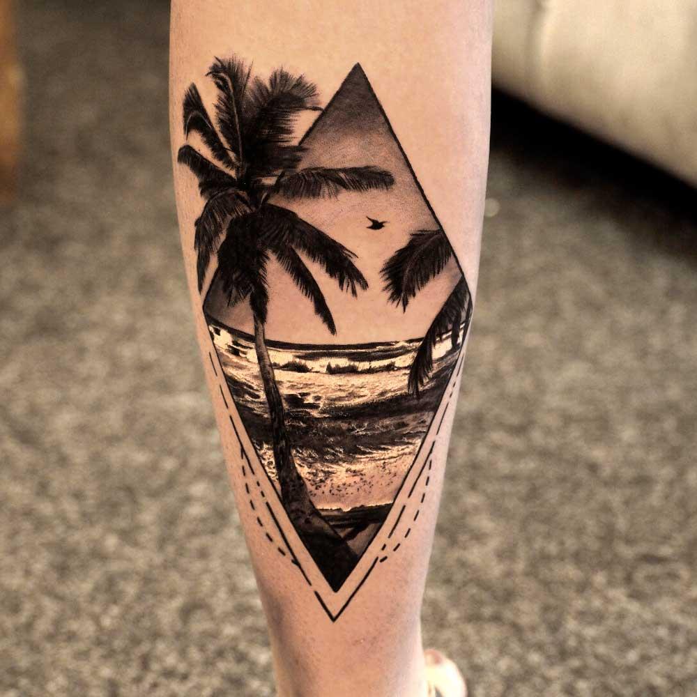 【Tatuajes de palmeras】 🌴 Significado y mejores diseños  ✅
